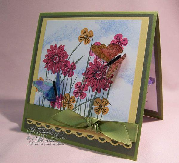 gretchen barron all in a flutter popup card